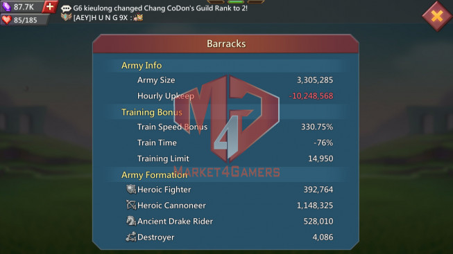 Account 420M Kd:676 Research 251M   Troops: 3M3   5 MS