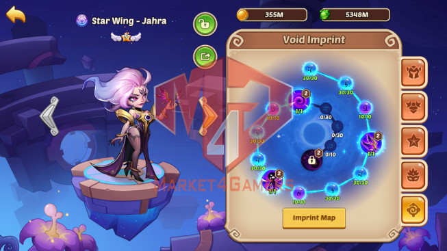 Android – Lv368- S24 – VIP 13 –4 Void Heroes Asmodel + Halora + Xia – 34 Heroes E5 – 46 Skins – 12M7 Power