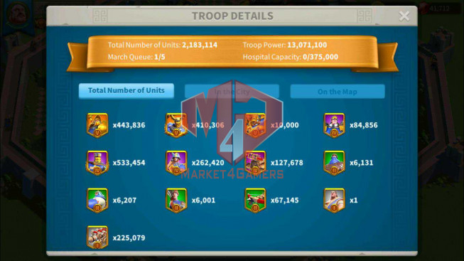 SOLD Account 62M Power ** Maxed 5 Commanders ** Buy 1 Get 7 ** 13M2 Credits