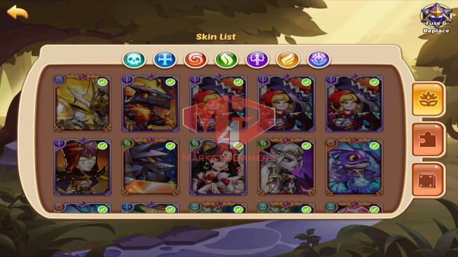 IOS – Lv165 – S120 – 1 Void Heroes Asmodel – 5 Heroes E5 + 1 Heroes E4 + 1E3 + 1E2 – 15Skins – 14M6 Power