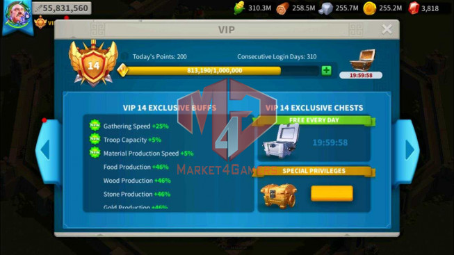 SOLD Account 55M Power ** Maxed 5 Commanders **