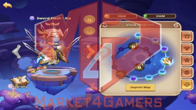 IOS – Lv206 – S114 – VIP1 – 1 Void Heroes Xia – 7 Heroes E5 + 2 Heroes E2 – 33Skins – 11M1 Power