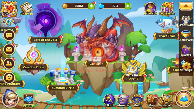 Android – lv 300 – vip 10 – s37 – 1 Void Hero Halora-13 Heroes E5 – 7M5 POWER – 20 SKINS