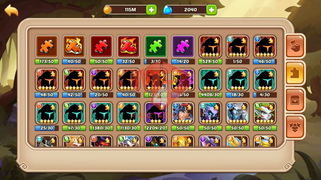 [SOLD].Android – lv 212 – vip 5 – s73 – 8 Heroes E5 + 1 E4 – 8M1 POWER – 16 SKINS