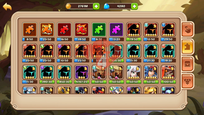 Android – lv 289 – vip 3 – s13 -1 HeroVoid – XIA 13 Heroes E5 – 6M7 POWER – 23 SKINS