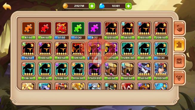 Android – lv 315 – vip 6 – 1 HeroVoid – Asmodel full imprint- s2 – 16 Heroes E5 – 8M8 POWER – 30 SKINS