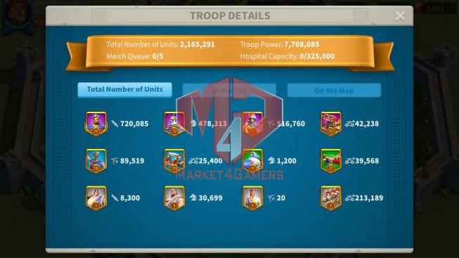 Account 39M ** Vip 13 ** Maxed 3 Commanders ** 3 Farm Accounts
