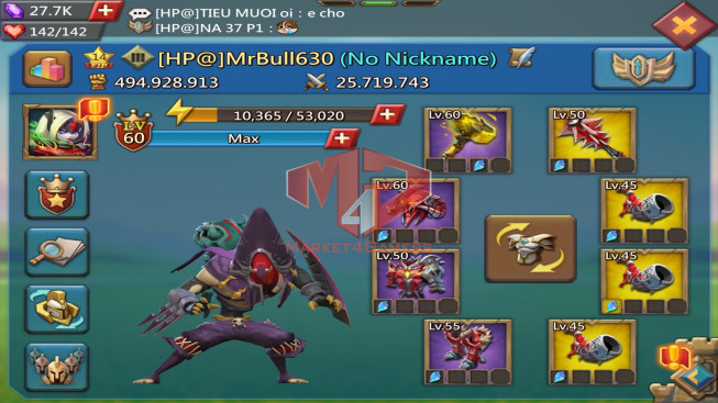 Account 494M |Kd:251|Research 250M| Troops 8M