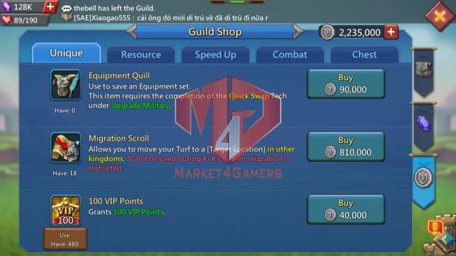 Account 833M  Kd:164 – Research 445M   Troops: 9 M   18MS