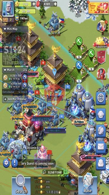 Lv80 Vip 7 S1124 35 Hero Legendary – Max Bumblebee, Ben, Katyusha, (Villiers,Bradley)x4* – 9 Hero Purple – Valhalla Train +1 +2 – 147ee Power – 3 Skin Base, 4 PP – Top 4 Clan