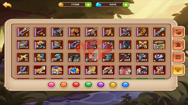 iOS – Lv293 – S29 – Vip 6 – 12 Heroes E5 +1E3 – 5M7 Power – 28 Skins