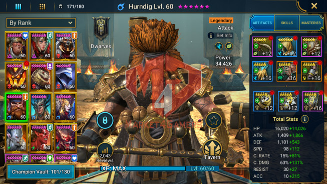 All Devices Account 1M7 Power ** Lvl 72 ** 22 Heros Legend
