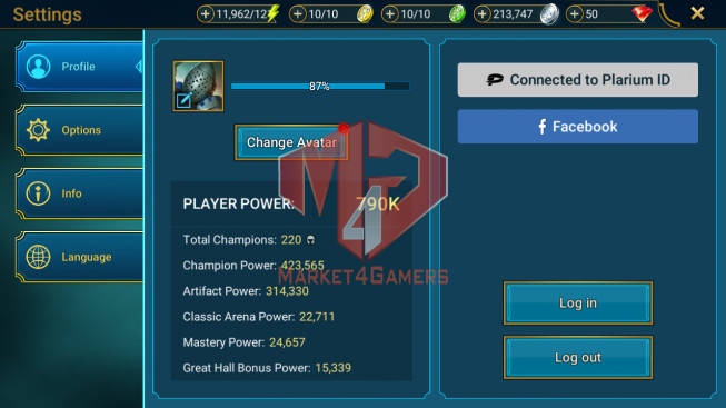 All Devices Account 790k Power ** Lvl 51 ** 10 Heros Legend