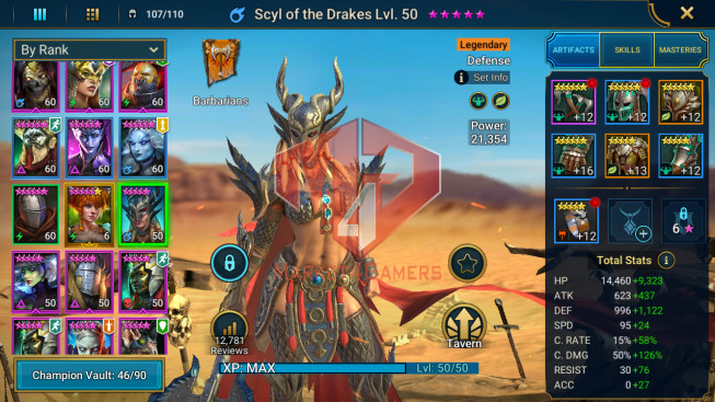 All Devices Account 975K Power ** Lvl 64 ** 9 Heros Legend