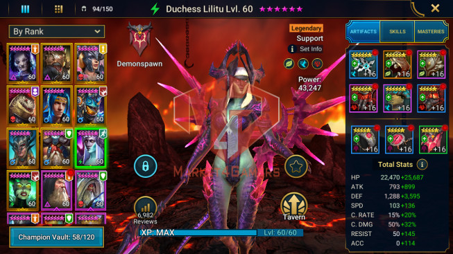 All Devices Account 1M5 Power ** Lvl 76 ** 11 Heros Legend