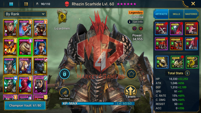 All Devices Account 1M4 Power ** Lvl 73 ** 12 Heros Legend