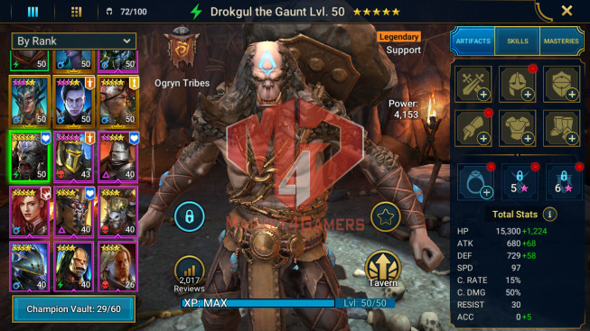 All Devices Account 528K Power ** Lvl 54 ** 10 Heros Legend