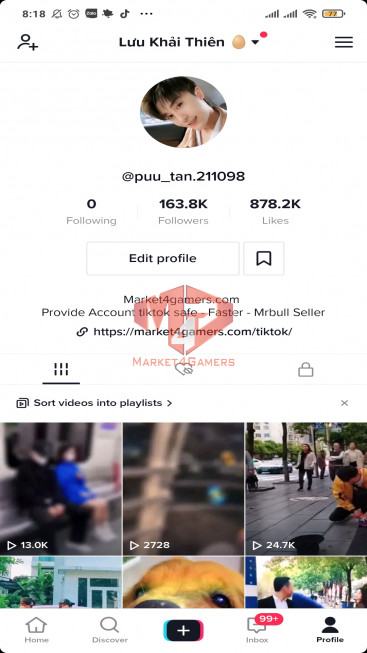 ✅ Account 164.0k Followers – 877.1k Likes – Entertainment Channel – Turn on Live Stream