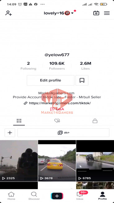 ✅ Account 109k Followers – 2,5M Likes – Entertainment Channel – Turn On Live Stream