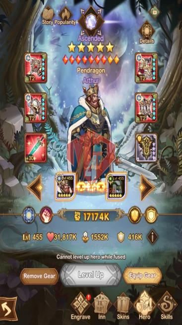 AFK 1057M– Vip 10 — S33 — 58 Heroes Ascended – 9 Dimensional Heroes