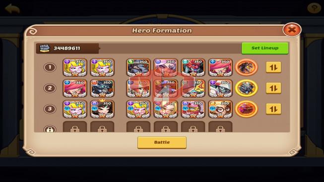 IOS – Lv358 – S49 – VIP11 – 4 Void Heroes Halora , Xia , Jahra , Vesa – 27 Heroes E5 + 1E2 – 30 Skins – 34M Power