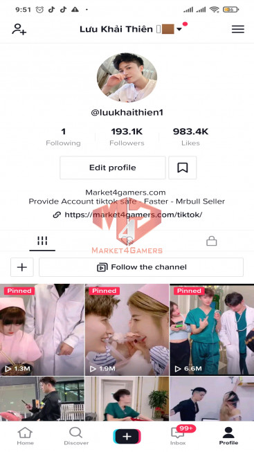 ✅ Account 193.4K Followers – 981.6K Likes – Entertainment Channel – Turn On Live Stream