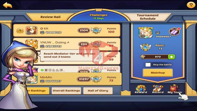 IOS – Lv202 – S1297 – VIP6 – 1 Void Heroes Xia – 9 Heroes E5 – 12 Skins – 14M Power