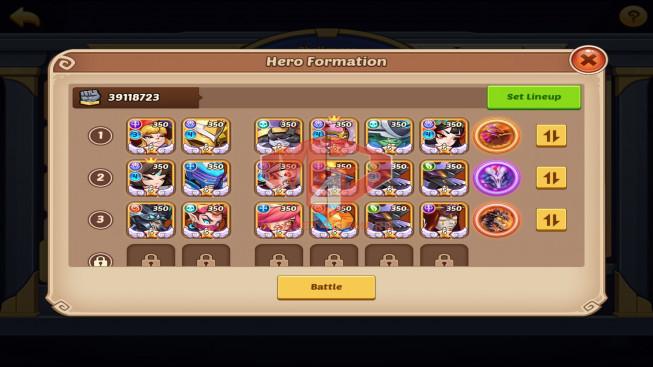 IOS – Lv271 – S1278 – VIP11 – 5 Void Heroes – 18 Heroes E5 – 27 Skins – 39M Power