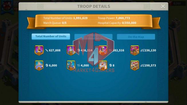 Account 49M Near T5 ** Vip 13 ** Maxed 5 Commanders ** Farm Account