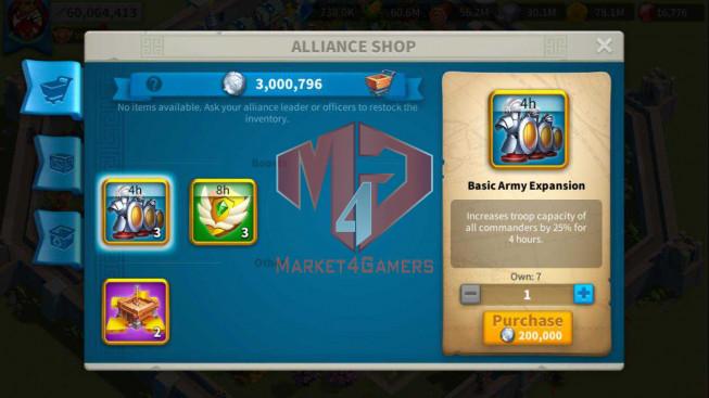 Account 60M T5 ** Vip 13 ** Maxed 5 Commanders ** 3M Credits ** Farm Account 12M