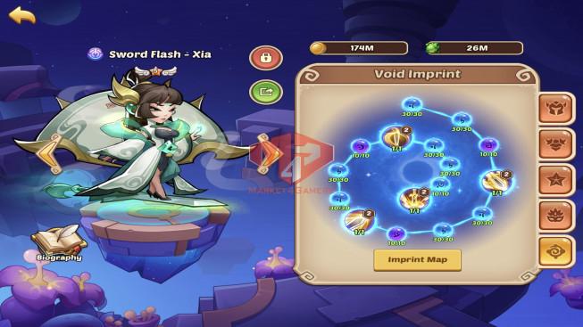 IOS – Lv204 – Lv204 – S107 – VIP3 – 2 Void Heroes Halora + Xia – 13 Heroes E5 – 13 Skins – 19M Power