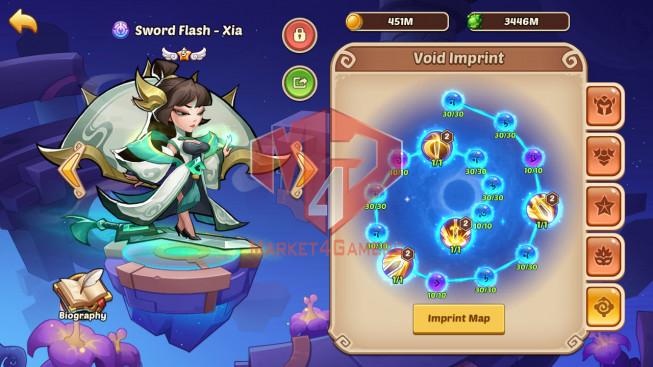 Android – Lv320 – S54 – VIP 11 – 4 Void Heroes Vesa , Jahra , Halora , Xia – 21 Heroes E5 + 2E3 – 38 Skins – 48M Power