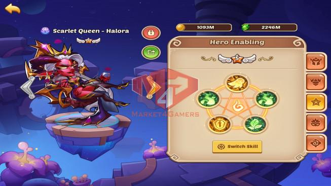 iOS – Lv320 – S71 – Vip 12 – 2 Void Heroes – 18 Heroes E5 – 10m1 Power – 25 Skins