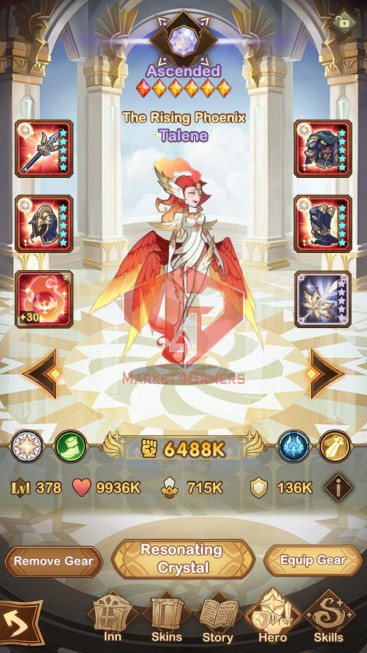 [SOLD ][Whale Account]AFK 320M –VIP 10 –s190 — 38 HEROS ASCENDED