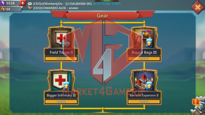 [ Super Sale Off ] Account 821M – 350M Research – 551K Gems – Watcher Gold – Research T5 Good – 28 MS – 500$