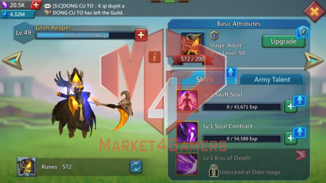 [ Super Sale Off ] Account 1B093 – 372M Research – Songtress Of the Sea & Watcher Gold – 879$