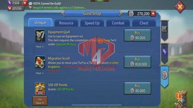 [ Super Sale Off ] Account 522M – 206M Research – 15M Troop – Perfect War & Hunter Gear – 409$