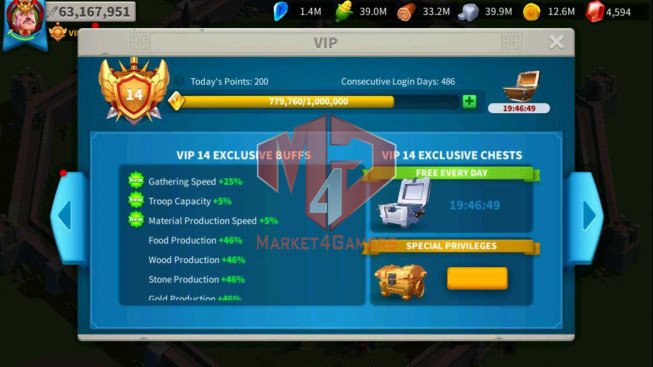 SOLD Account 63M Power ** Maxed 3 Commanders ** Ready Migrate ** 1M2 Credits