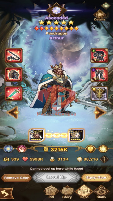 [SOLD]AFK–126M –VIP 10 –S 207– 27 HEROES ASCENDED