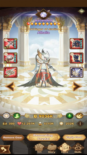 [SOLD][Whale Account]AFK 524M–Full Dimensionals Heroes –Vip 10– S42– 50 Ascended