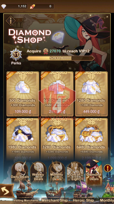 [Whale Account] 543M –VIP 11 –s155 — 49 HEROS ASCENDED+1 ACC 196M