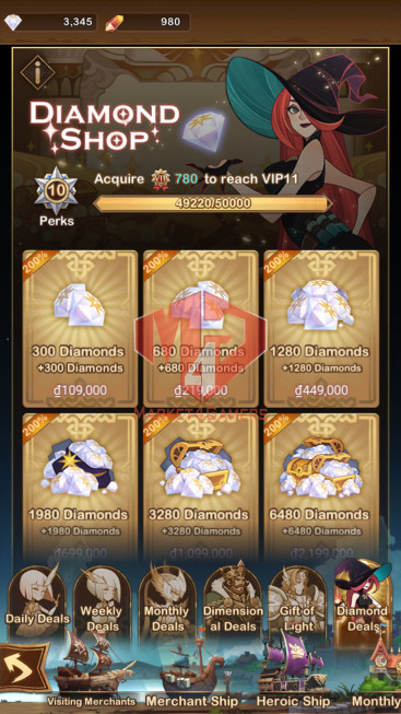 [SOLD][Whale Account]417M –VIP 10– s40 — 42 HEROS ASCENDED