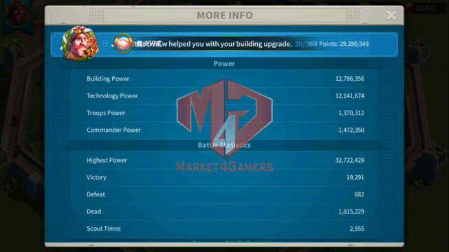 SOLD Account 27M Power ** Maxed Khan, Aethef ** Farm Account
