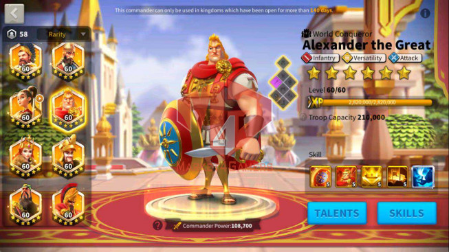 SOLD WHALE Account 140M Power ** Maxed 18 Commanders ** 2 Skin Legend