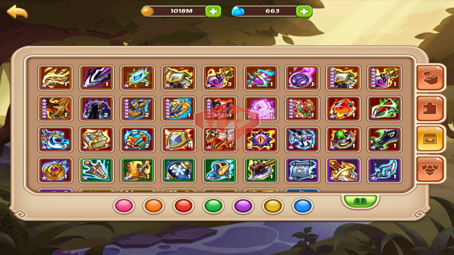 iOS – Lv265 – S83 – Vip 6 – 1 Void Heroes Halora – 11 Heroes E5 + 1E3 – 7m8 Power – 18 Skins
