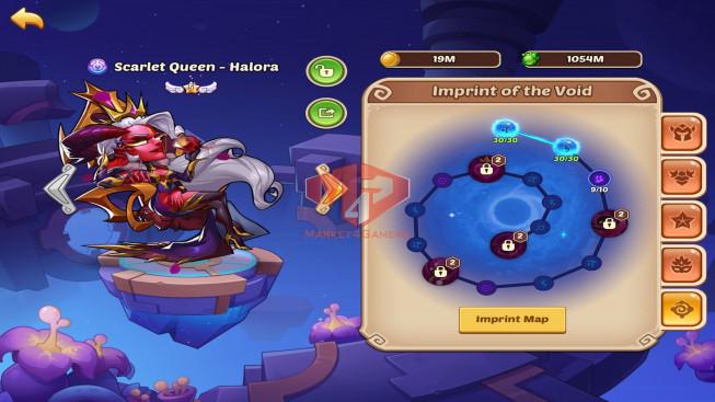 iOS – Lv306 – S33 – Vip 7 – 2 Void Heroes Halora,XIA – 17 Heroes E5 – 7m6 Power – 21 Skins