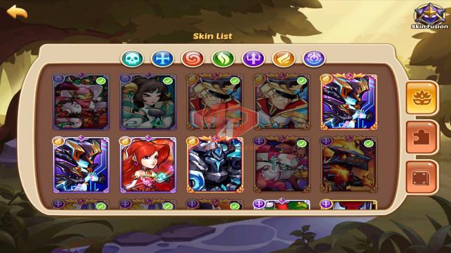 iOS – Lv364 – S37 – Vip 12 – 2 Void Heroes Halora,XIA – 13 Heroes E5 + 1E4- 9m4 Power – 23 Skins