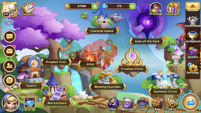 [SOLD].IOS Lv272 – S 53 – Vip 6 – 1Void Heroes Halora 12 Heroes E5 – 7m7 Power – 26 Skins