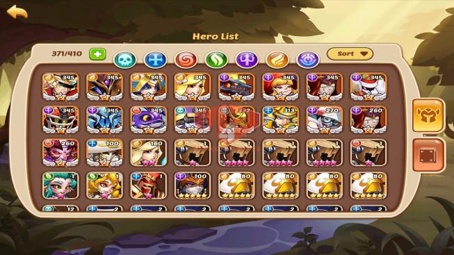 iOS – LV 301 – S43 – Vip 9 – 15 Heroes E5 + 3 E2 – 4M4 Power – 57 Skins