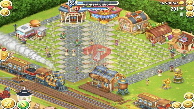 [SuperCell ID]–Account lv155 –barn storage 6250 –silo storage 4150 — 201 Diamond — Tackle 50 — Train Lv19